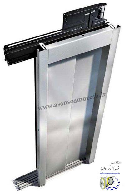 آموزش نصب درب طبقات آسانسور